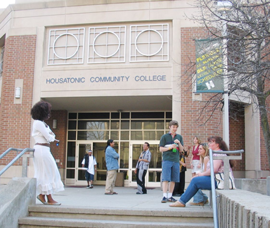Housatonic Community College Photo - Housatonic Community College students enjoy a break between classes.