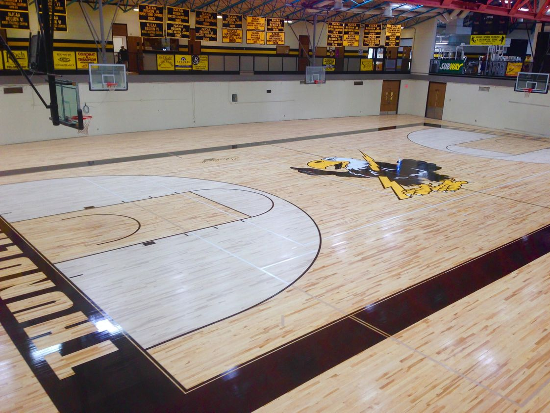 Cloud County Community College Photo #1 - We are currently renovating our gymnasium. Check out the new floor!