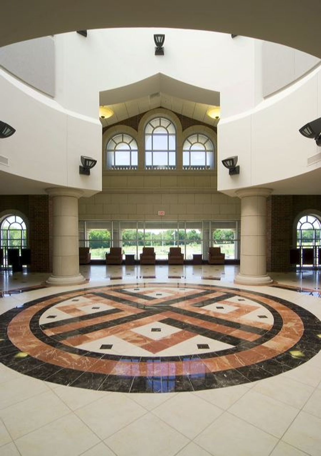 Collin County Community College District Photo - The rotunda of the Central Park Campus library in McKinney.
