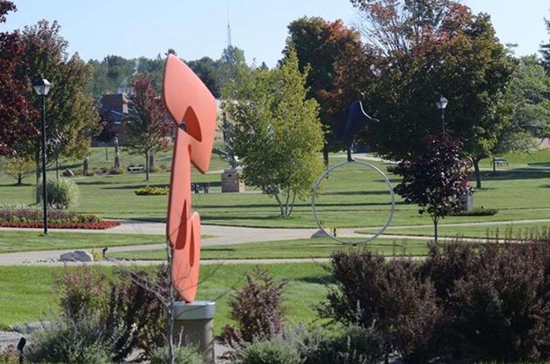 North Central Michigan College Photo - North Central Michigan College's Petoskey campus and Harris Sculpture Gardens.