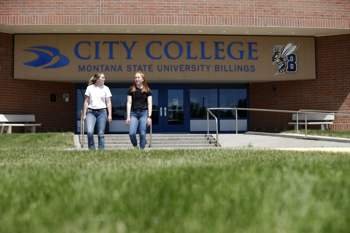City College at Montana State University-Billings Photo - Welcome to the City College campus. This is the main entrance to our Tech building, which is where prospective students can get assistance with getting started.
