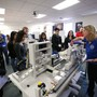 Western Nevada College Photo #4 - Industrial Technology and Electronics professor Emily Howarth talks to students during College Day at Western Nevada College on March 10, 2017, in Carson City.