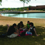 Marion Technical College Photo - Studying outdoors with friends.
